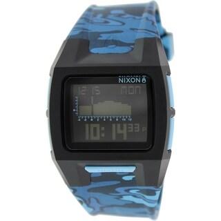 Nixon Men's 'Lodown II' A2891628 Blue Rubber Quartz Watch