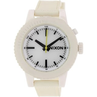 Nixon Women's Gogo A287100 Beige Silicone Quartz Watch
