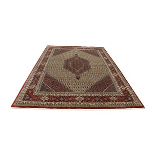 Hand-knotted Wool and Silk Bidjar Mahi Area Rug (10' x 13')