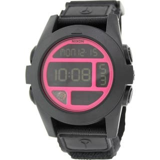 Nixon Men's Baja A489480 Black Nylon Quartz Watch|https://ak1.ostkcdn.com/images/products/9760112/P16931903.jpg?impolicy=medium