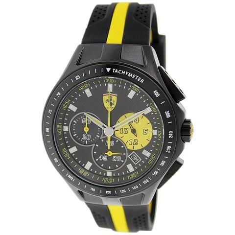 Ferrari Men's Black Rubber Quartz Watch