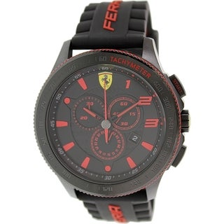 Ferrari Men's 0830138 Black Rubber Quartz Watch
