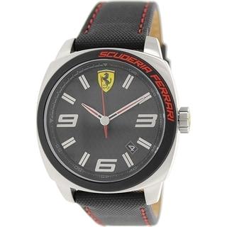 Ferrari Men's 0830163 Black Leather Quartz Watch