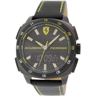 Ferrari Men's 0830170 Black Leather Quartz Watch