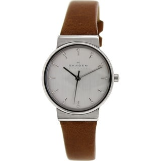 Skagen Women's Ancher SKW2192 Brown Leather Quartz Watch