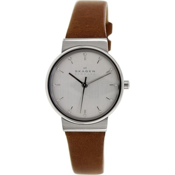 Skagen Women's Ancher SKW2192 Brown Leather Quartz Watch