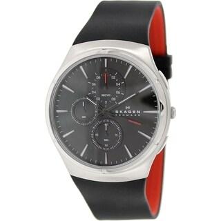 Skagen Men's Jannik SKW6133 Black Silicone Quartz Watch