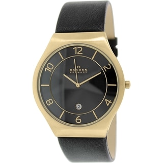 Skagen Men's SKW6145 Black Leather Quartz Watch