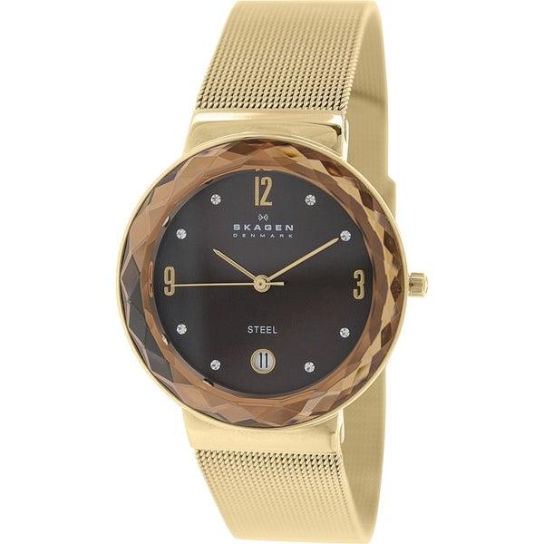 397a5169d Shop Skagen Women's 'Klassik' Crystal Rose-Tone Stainless Steel Watch - Free  Shipping Today - Overstock - 9760159