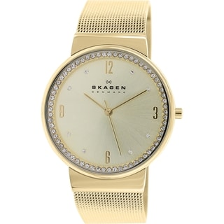 Skagen Women's Ancher SKW2129 Goldtone Stainless Steel Quartz Watch