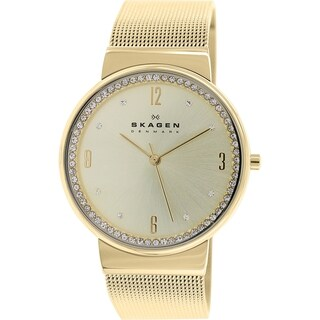 Skagen Women's Ancher SKW2129 Goldtone Stainless Steel Quartz Watch