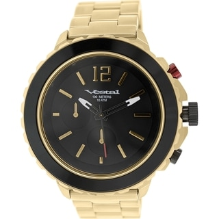Vestal Men's Yacht YATCM03 Antique Gold Stainless Steel Quartz Watch