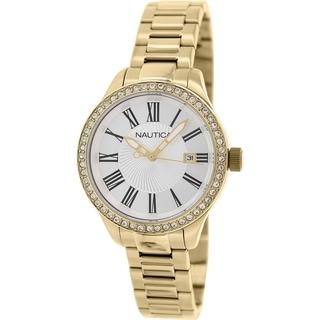 Nautica Women's Bfd 101 N16661M Goldtone Stainless Steel Quartz Watch