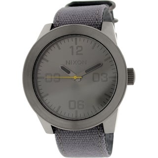 Nixon Men's Corporal A2431895 Grey Leather Quartz Watch