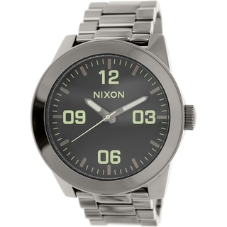 Nixon Men's Corporal A3461885 Gunmetal Stainless-Steel Quartz Watch