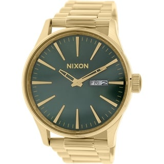 Nixon Men's Sentry A3561919 Gold Stainless-Steel Quartz Watch