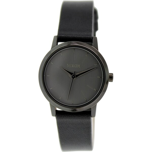 Nixon Women's Kenzi A3981531 Black Leather Quartz Watch