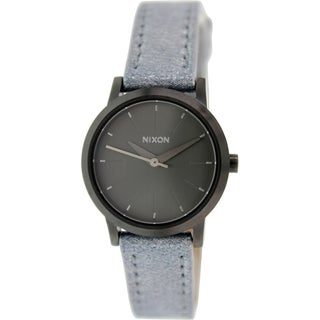 Nixon Women's Kenzi A3981876 Gunmetal Leather Quartz Watch