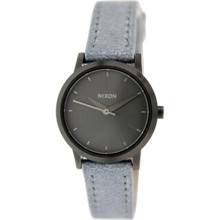 Nixon Women's Kenzi A3981876 Gunmetal Leather Quartz Watch