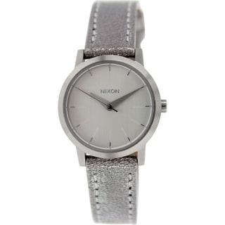 Nixon Women's Kenzi A3981878 Silver Leather Quartz Watch