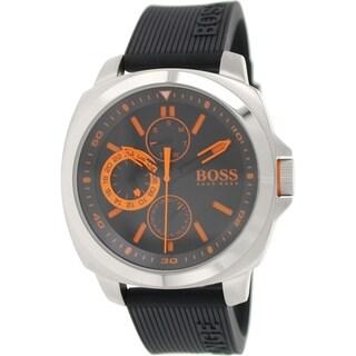 Hugo Boss Men's Brisbane 1513101 Black Silicone Analog Quartz Watch