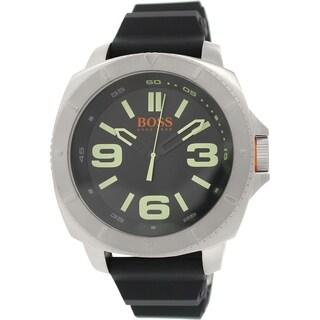 Hugo Boss Men's Sao Paulo 1513107 Black Rubber Analog Quartz Watch