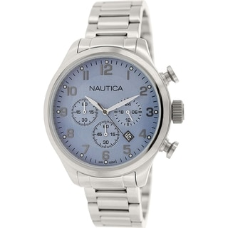 Nautica Men's Bfd 101 N17647G Stainless Steel Quartz Watch