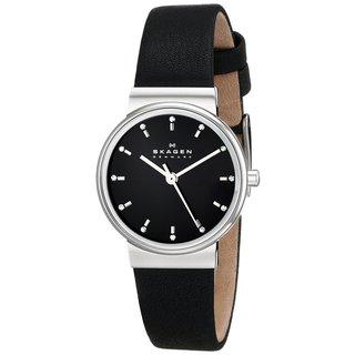 Skagen Women's Ancher SKW2193 Black Leather Quartz Watch