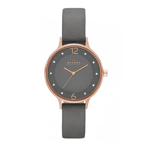 Skagen Women's SKW2267 Grey Leather Quartz Watch