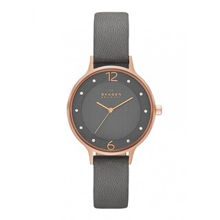 Skagen Women's SKW2267 Grey Leather Quartz Watch