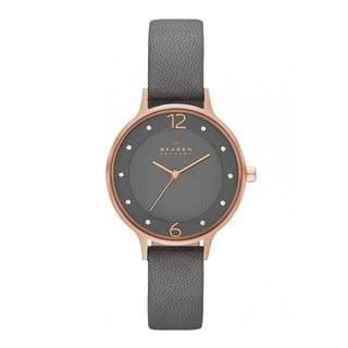 Skagen Women's SKW2267 Grey Leather Quartz Watch|https://ak1.ostkcdn.com/images/products/9760411/P16932161.jpg?impolicy=medium