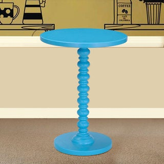 Adeco Blue Spindle Decorative End/ Side Table