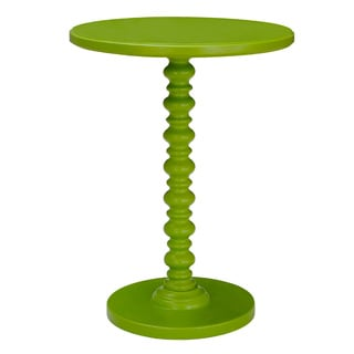 Adeco Green Spindle Decorative End/ Side Table
