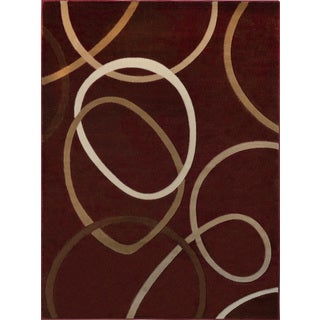"""Home Dynamix Tribeca Collection Contemporary Red Area Rug  (5'2""""X7'2"""")"""