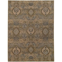 "Heritage Floral Ikat Ivory/ Blue Rug (1'10 x 3'3) - 1'10"" x 3'3"""