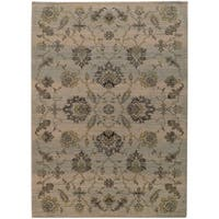 """Heritage Floral Traditional Ivory/ Blue Rug (1'10 x 3'3) - 1'10"""" x 3'3"""""""