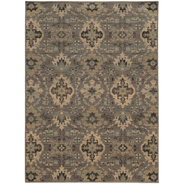 "Heritage Floral Ikat Blue/ Ivory Rug (1'10 x 3'3) - 1'10"" x 3'3"""