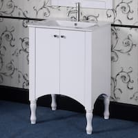 Ceramic/ Wood 24-inch White Bathroom Vanity