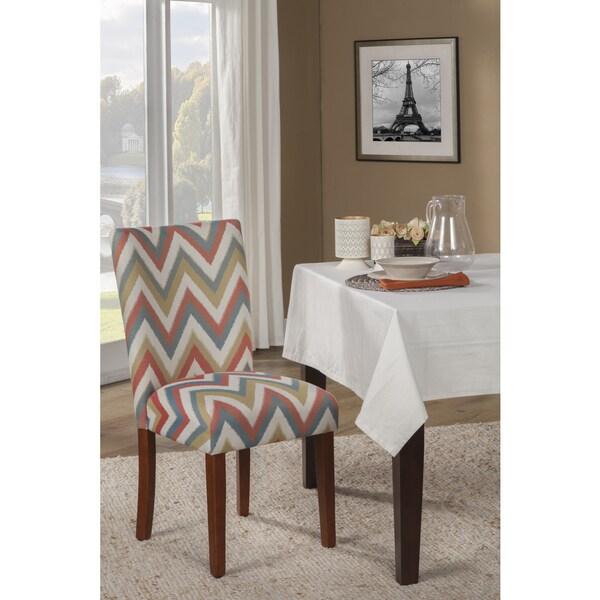 Shop Homepop Chevron Pattern Parson Dining Chair Set Of 2