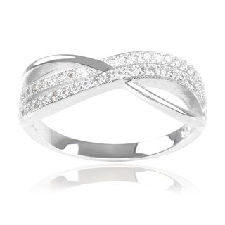 Journee Collection Sterling Silver Cubic Zirconia Split Band Ring