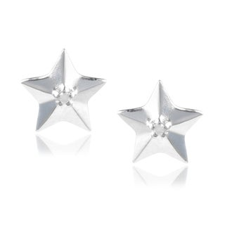 Journee Collection Sterling Silver Diamond Accent Star Stud Earrings