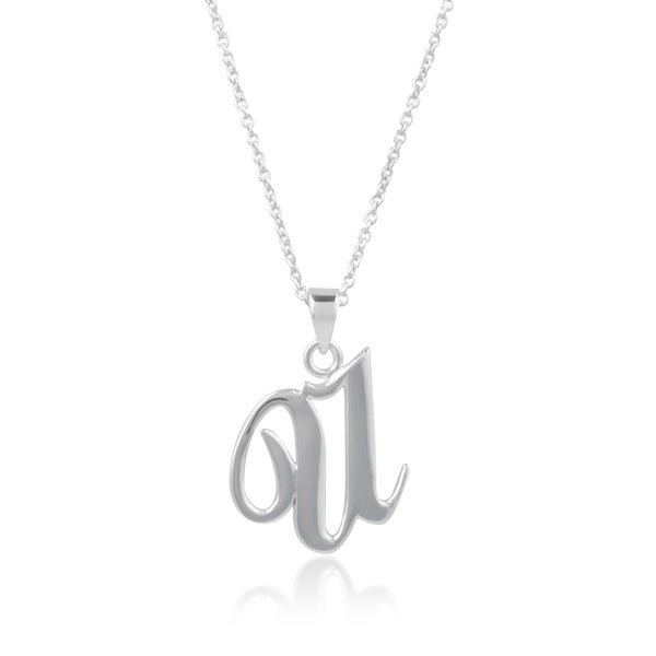 Sterling Silver Round Initial Charm Letter O Hand Stamped With 18 Silver Bead Chain