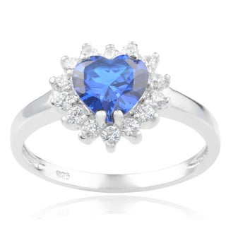 Journee Collection Sterling Silver Cubic Zirconia Heart Engagement Ring