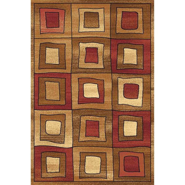 Power Loomed Modern Square Bowery 8984 Rug (5' x 8')