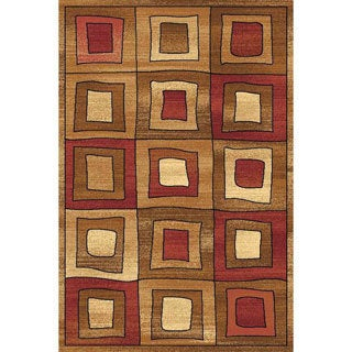 Power Loomed Modern Square Bowery 8984 Rug (5' x 8') - 5' x 8'
