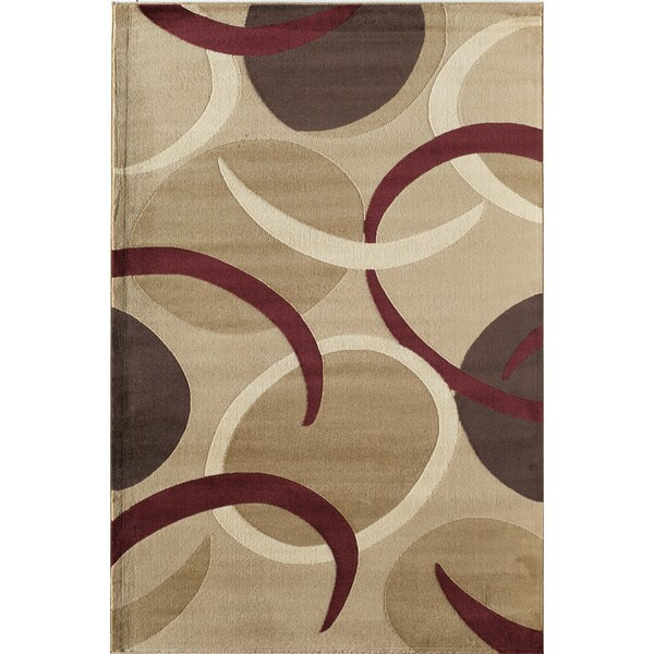 Easton Gold Geometric Area Rug - 5'3 x 7'10
