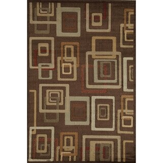 Power Loomed Dimensional Squares Bowery 7394 Rug (5' x 8')