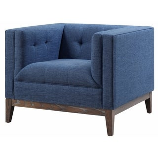 Gavin Blue Linen Chair