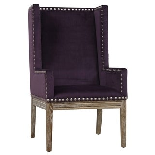 Tribeca II Purple Velvet Chair