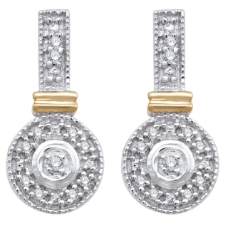 Divina 10k White Gold 1/10ct TDW Diamond Fashion Earrings (H-I, I2-I3)